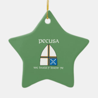 PECUSA we hardly knew ye Double-Sided Star Ceramic Christmas Ornament