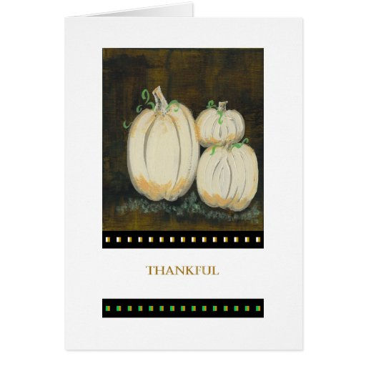 PedagogyGreetings Card: White Pumpkins II
