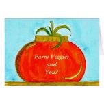 PedagogyGreetings: Pure Tomato (Customizable) Greeting Card
