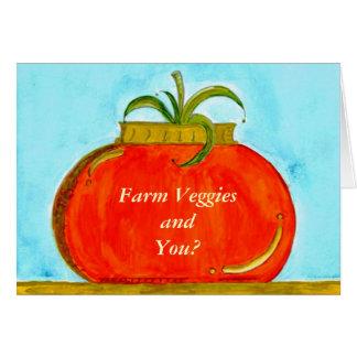 PedagogyGreetings: Tomate puro (personalizable) Tarjeta De Felicitación