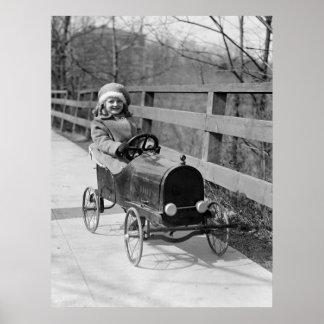 Pedal antiguo Car, 1922 Póster