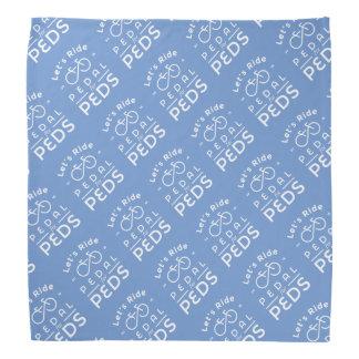 Pedal azul del funcionario 2016 del pañuelo para bandana