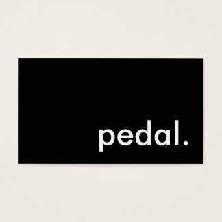 pedal. business card