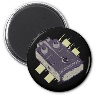 Pedal de la distorsión de la guitarra eléctrica de imán redondo 5 cm