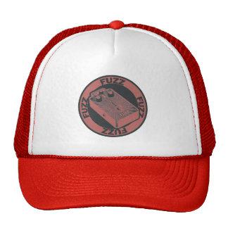 Pedal de la pelusa rojo/negro gorra