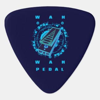 Pedal de Wah de la guitarra, azul Uñeta De Guitarra