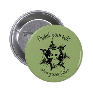 Pedal en un botón futuro más verde: Verde Pin