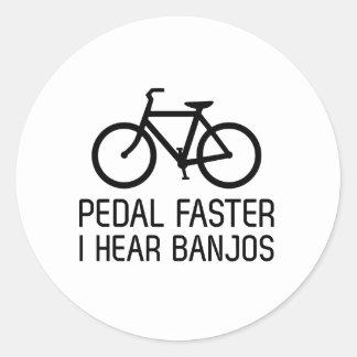 Pedal Faster, I Hear Banjos Classic Round Sticker
