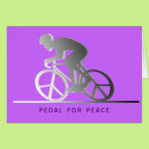 PEDAL FOR PEACE - gray Card