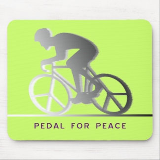 PEDAL FOR PEACE - gray Mouse Pad