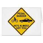 Pedal Harder Highway Sign Card