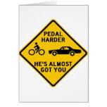 Pedal Harder Highway Sign Cards