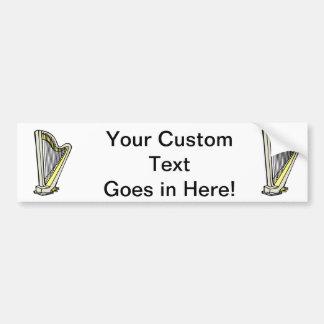 Pedal Harp Blue Tinted Plain Graphic Design Bumper Sticker