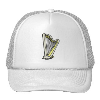 Pedal Harp Blue Tinted Plain Graphic Design Mesh Hat