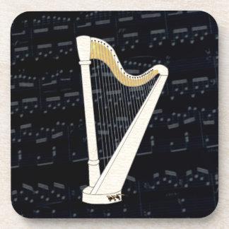 Pedal Harp Music Beverage Coaster