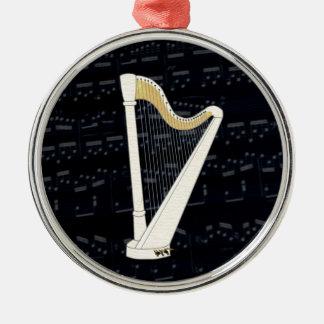 Pedal Harp Music Metal Ornament