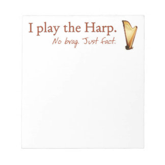 Pedal Harp Note Pad
