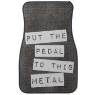 Pedal Metal Mat Car Mat