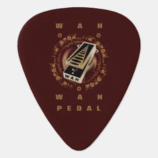 Pedal, negro y Brown de Wah de la guitarra Uñeta De Guitarra