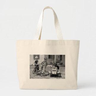 Pedal Power 1930s Canvas Bag