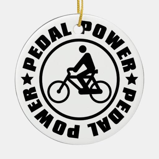 PEDAL_POWER ADORNO NAVIDEÑO REDONDO DE CERÁMICA