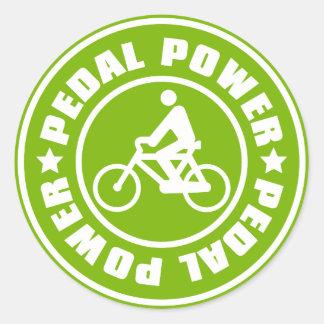PEDAL_POWER CLASSIC ROUND STICKER