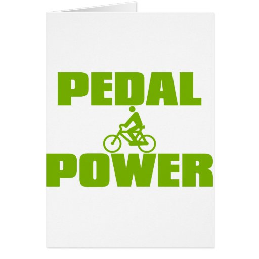 PEDAL_POWER GREETING CARD
