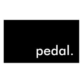 pedal tarjetas de visita