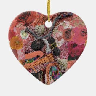 Pedal through Petals Ceramic Ornament