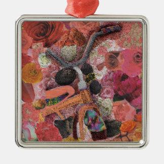 Pedal through Petals Metal Ornament