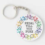 Pedal Till You Puke Keychain