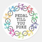 Pedal Till You Puke Sticker