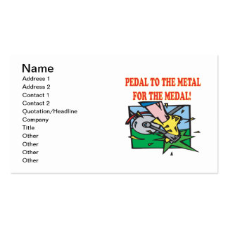 Pedal To The Medal 2 Business Card Template