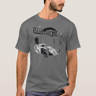 Pedal to the Metal Dirt Modified Gray T-Shirt
