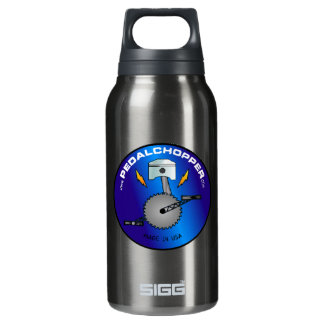PedalChopper Logo Blue Insulated Water Bottle