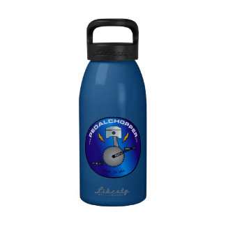 PedalChopper Logo Blue Drinking Bottle