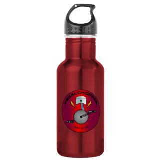 PedalChopper Logo Red Water Bottle