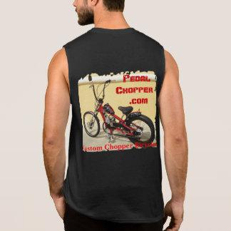 PedalChopper Web Bike & Red Logo w/Name Sleeveless Shirt