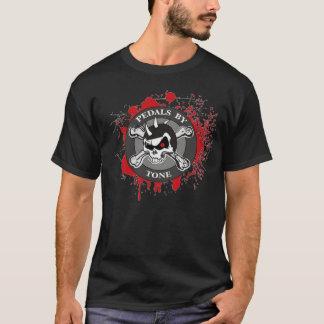 Pedales por la camiseta del logotipo del tono