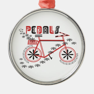PEDALS Cycling Metal Ornament