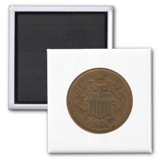 pedazo 1864 2-Cent Iman