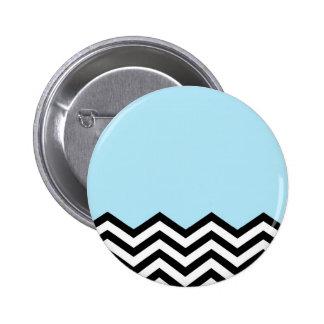 Pedazo azul de Chevron Pin Redondo De 2 Pulgadas