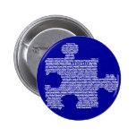 Pedazo azul del rompecabezas del autismo pin