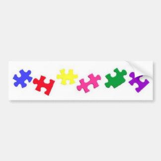 Pedazo Bumpersticker del rompecabezas del autismo Pegatina De Parachoque
