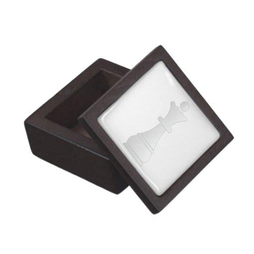 Pedazo de ajedrez blanco de la reina cajas de joyas de calidad