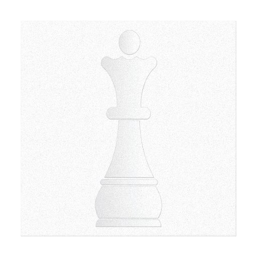 Pedazo de ajedrez blanco de la reina impresiones en lienzo estiradas