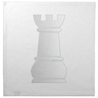 Pedazo de ajedrez blanco de la roca servilleta