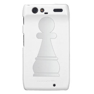 Pedazo de ajedrez blanco del empeño motorola droid RAZR carcasa