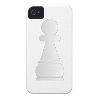 Pedazo de ajedrez blanco del empeño Case-Mate iPhone 4 coberturas