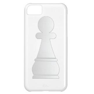 Pedazo de ajedrez blanco del empeño
